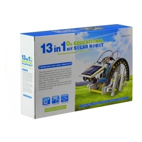 Электромеханический конструктор CuteSunlight Toys Factory Solar robot kit 13 в 1