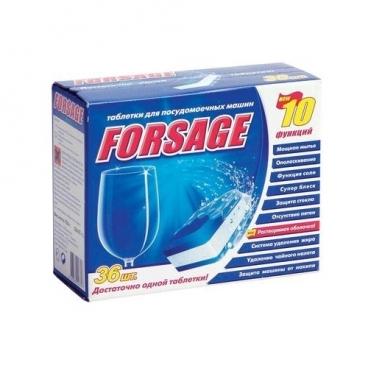 FORSAGE 10 в 1 таблетки для посудомоечной машины