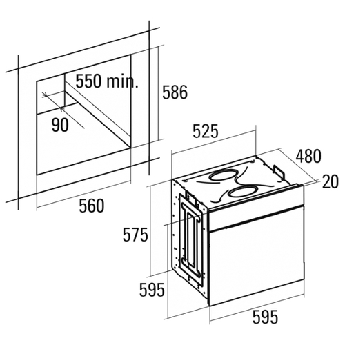 Электрический духовой шкаф CATA CM 760 AS BK