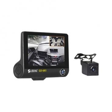 Видеорегистратор Subini GD-685RU, 3 камеры, GPS