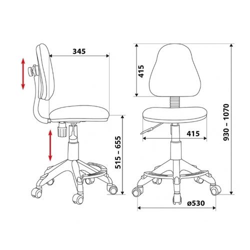 Компьютерное кресло Бюрократ KD-4-F детское