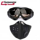 321.84 руб. 6% СКИДКА|Мотоциклетная маска для защиты лица с активированным углем для мотокросса защитный лицевой щиток на открытом воздухе Велоспорт Лыжный Спорт Половина мотоциклетная маска для защиты лица + яркие очки-in Мотоциклетная маска from Автомобили и мотоциклы on Aliexpress.com | Alibaba Group