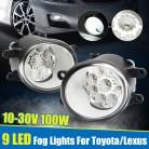 1157.56 руб. 37% СКИДКА|2 шт. круглый спереди светодио дный автомобилей Туман свет лампы для Toyota Camry Corolla 2009 2013 Yaris 2006 2013 RAV4 2006 2012 для Lexus RX350/RX450 купить на AliExpress