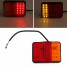 970.4 руб. 24% СКИДКА|2 шт.. водостойкие 30 светодио дный задние фонари Красный янтарь задний фонарь DC 12 В для прицепа Грузовик Лодка Предупреждение поворотные сигнальные огни купить на AliExpress
