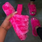 new women spring plush slippers 2020 ms flat bottom antiskid indoor all-around comfortable sandals outdoor leisure sandals