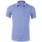 HEFLASHOR Для мужчин Малый платье в клетку рубашка Лето с длинным рукавом удобные топы мягкие высокое качество натуральный хлопок тонкий Slim fit блузки купить на AliExpress