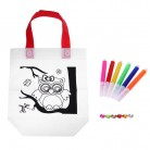 Graffiti Handbag Kids Bag Children DIY Environmental Cloth Painted Bags Kindergarten Painting Fill-color Drawing Toys