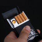 US $6.22 25% OFF|Portable Cigarette Case Box Lighter 8pcs Cigarette Holder With USB Electronic Rechargeable Lighter Electric Plasma Arc Lighter-in Cigarette Accessories from Home & Garden on AliExpress