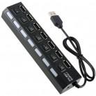 Купить USB-концентратор Dream DRM-UH1-01, разъемов: 7, черный по низкой цене с доставкой из маркетплейса Беру