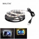 72.61 руб. 43% СКИДКА|5 В USB мощность светодиодные полосы света RGB 2835 3528 SMD HD ТВ Настольный ПК экран подсветка и светильник 1 м 2 м 3 м 4 м 5 м не водонепроницаемый-in Светодиодные ленты from Лампы и освещение on Aliexpress.com | Alibaba Group