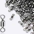 10-50PCS Fishing Swivel Sizes Solid Connector Ball Bearing  Snap Fishing Swivels Rolling  Stainless Steel Beads