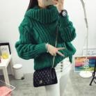 1164.97 руб. 9% СКИДКА|Винтажный свитер с высоким воротом, зимнее плетеное платье с высоким воротом, свободные пуловеры для женщин, теплый вязаный свитер-in Пуловеры from Женская одежда on Aliexpress.com | Alibaba Group