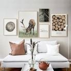 Настенный художественный пейзаж, холст, плакат, Северное дерево, пальмовый лист, цитаты, печать, живопись, скандинавские украшения комнаты, ...