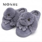 421.27 руб. 49% СКИДКА|Женские зимние домашние тапочки; теплые плюшевые тапочки с милым кроликом; домашняя мягкая повседневная обувь для женщин-in Тапочки from Туфли on Aliexpress.com | Alibaba Group