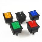 5 шт. фиксации Рокер кнопка выключения питания I/O 4 контакта со светом 16A 250VAC 20A 125VAC KCD4 купить на AliExpress