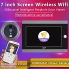 10170.09 руб. 9% СКИДКА|MOUNTAINONE дюймов 7 дюймов WiFi глазок дверной глазок и видео ip дверной звонок 7 дюймов экран IR PIR дверь HD камера обнаружения движения дверной Звонок купить на AliExpress