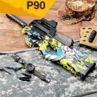 2376.45 руб. |P90 Graffiti Edition электрическое игрушечное ружье воды пуля всплески пистолет жить CS нападение Бекас оружие открытый Пистолеты игрушки купить на AliExpress