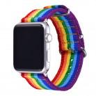 1018.85 руб. 35% СКИДКА|BANDMAX ремешки для Apple Watch 42mm 38 мм серии 4/3/2/1, НАТО Премиум баллистического нейлона радуга часы ремешок Замена купить на AliExpress