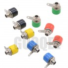 5color  4mm Banana Binding Post 4mm Banana Socket Plug Adapter DIY Red Green Yellow Black Blue