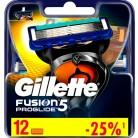 Купить Сменные кассеты Gillette Fusion5 ProGlide, 12 шт. по низкой цене с доставкой из маркетплейса Беру