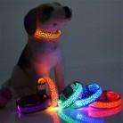 Регулируемый светодиодный светящийся ошейник для питомцев Леопардовый нейлоновый ошейник для питомца собаки кошки Ночная безопасность св...