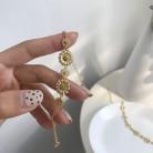 Silvology 925 Sterling Silver Daisy Flower Bracelets Creative High Quality 18K Gold Elegant Bracelets for Women Festival Jewelry