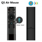 442.98 руб. 25% СКИДКА|Q5 голос Управление Беспроводной Air Мышь 2,4 г RF гироскопа Сенсор Smart Remote Управление с микрофоном для X96 H96 Android ТВ Box Mini PC купить на AliExpress