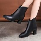 818.99 руб. 31% СКИДКА|YOUYEDIAN/женские ботинки; коллекция 2018 года; кожаные ботинки на высоком каблуке; женская зимняя обувь с острым носком; повседневные Ботинки martin без застежки; Botas Mujer-in Сапоги до середины голени from Туфли on Aliexpress.com | Alibaba Group
