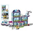 Новинка, 932 шт, друзья, девочка, совместимы с Legoinglys City 41318, модели друзей, строительные блоки, Heartlake больница, кирпичи, игрушки, подарки для дево...