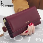 US $8.94 40% OFF|New Fashion Women Wallets Long Style Multi functional wallet Purse Fresh PU leather Female Clutch Card Holder-in Wallets from Luggage & Bags on Aliexpress.com | Alibaba Group
