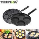 TEENRA четыре отверстия сковорода утолщенная сковорода для омлета антипригарное яйцо блинов стейк сковорода для приготовления яиц ветчины ск...
