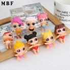 Игрушка для девочек Дети 8 Stlys случайная отправка высота около 4 см MBF сюрприз куклы Русалка купить на AliExpress