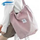 444.5руб. 46% СКИДКА|Hylhexyr, однотонные вельветовые сумки на плечо, Экологичная сумка для покупок, сумка тоут, посылка, сумки через плечо, кошельки, повседневные сумки для женщин-in Хозяйственные сумки from Багаж и сумки on AliExpress - 11.11_Double 11_Singles' Day