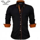 787.61 руб. 49% СКИДКА|VISADA JAUNA/мужские рубашки европейского размера, Новое поступление, приталенная Мужская рубашка, однотонный хлопковый в британском стиле с длинными рукавами, мужская рубашка N332-in Повседневные рубашки from Мужская одежда on Aliexpress.com | Alibaba Group