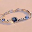 Летние Стильные браслеты цепочки и браслеты серебряный цвет блестящие стразы в форме сердца браслеты с подвесками для женщин pulseira masculina купить на AliExpress