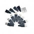 36.64 руб. 16% СКИДКА|2/5/10 шт./лот DIY USB мужчина 4 Pin разъем с черной Пластик крышка адаптер для подключения USB 2,0 PCB, внесение изменений в кабель канал-in Соединители from Товары для дома on Aliexpress.com | Alibaba Group