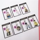 Llavero KPOP Bangtan fotos infantiles Llave de cristal colgante anillo de álbum colgante bolsa de dibujos animados accesorios periferia on AliExpress
