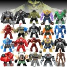 Single Sale Big Super Heroes Anti Venom Thanos Cull Obsidian Hulk Buster Spiderman Batman Bane Figure Model Building Blocks Toys