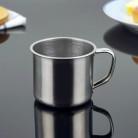 56.31руб. 20% СКИДКА|1 шт., новинка, 100 мл, нержавеющая сталь, портативная кружка, серебряная чашка, настенный стакан для путешествий, кружка для кофе, молока, чая, чашка для офиса-in Кружки from Дом и животные on AliExpress - 11.11_Double 11_Singles' Day
