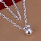 Заводская цена, высокое качество, посеребренное ювелирное ожерелье, модное милое ожерелье, подвеска с шариками, лидер продаж, SMTN045купить в магазине KITEAL Official StoreнаAliExpress