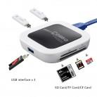 1151.16 руб. 12% СКИДКА|USB 3,0 кардридер разветвитель с 3 портами USB 3,0 концентратор и SD/TF/Слот для карт памяти CF функция памяти микро CD USB 3,0 кардридер-in Карт-ридеры from Компьютер и офис on Aliexpress.com | Alibaba Group