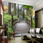743.75 руб. 15% СКИДКА|Пользовательские фото обои ландшафтный парк деревянный мост 3D пейзаж Задний план стены гостиной стены ванной росписи обоев купить на AliExpress