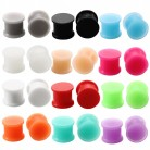 2Pcs Silicone Ear Tunnel Flesh Flexible Hider Plugs Piercing Mixed Colors Double Flare Plug Ear Expander Stretcher Body Jewelry
