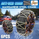 4 6 12 pcs/set Universal Steel Truck Car Wheels Tyre Tire Snow Ice Chains Belt Anti-skid Wheel Chain Road Safe for + storag bag