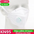 [1 ~ 10 шт] KN95 одноразовые маски для лица N95 защитный фильтр для рта респиратор Пылезащитная маска грипп шаблон для лица ffp2 Pm2.5 Крышка для рта
