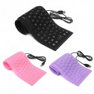US $5.85 |Novelty Design Laptop Notebook Portable Flexible Silicone Keyboard Foldable Waterproof Dustproof USB Silent Keys PC Keyboard-in Keyboards from Computer & Office on Aliexpress.com | Alibaba Group