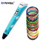 Myriwell оригинальный RP 100B 3D печать Ручка мм 1,75 мм ABS Smart рисунок ручки с нити светодио дный светодиодный дисплей для детей Подарки купить на AliExpress