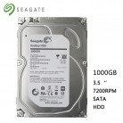 "Seagate Brand 1000GB desktop computer 3.5"" internal mechanical hard drive SATA 6Gb/s 1TB 7200 RPM 16 MB buffer free shipping"