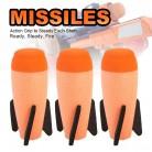 2Pcs Missile For Nerf Soft Missile for NERF N-Strike Modulus Missile Blaster with Elite Missile for Kids Children Gift