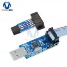 10 Pin Convert to Standard 6 Pin Adapter Board+USBASP USBISP AVR Programmer USB Diy Electronic PCB Board Module